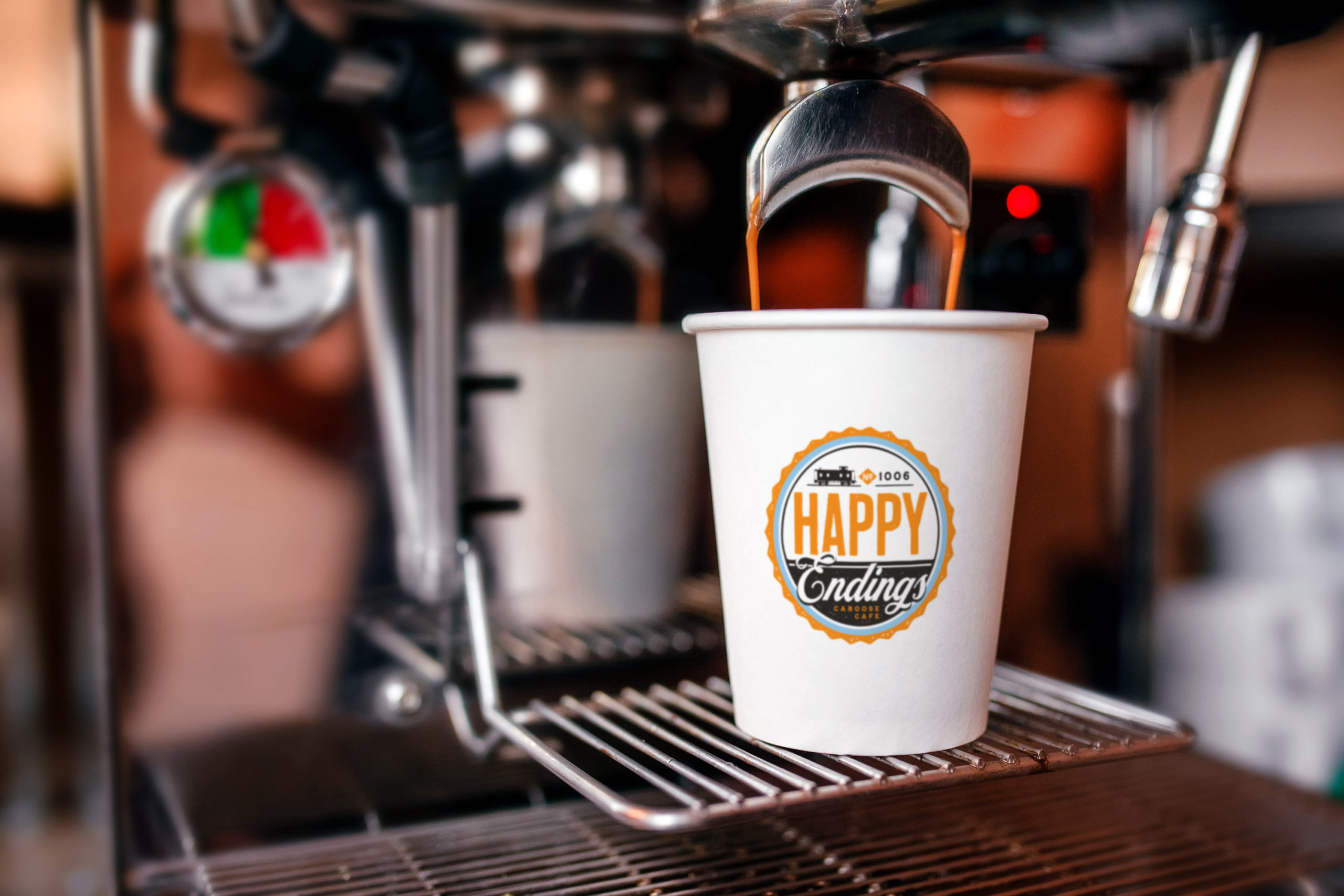 Fresh Espresso Drink from Happy Endings Caboose Cafe